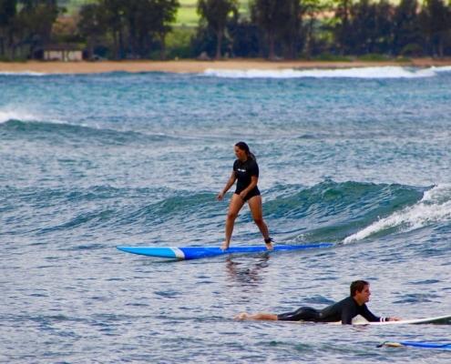 Beginner surfers
