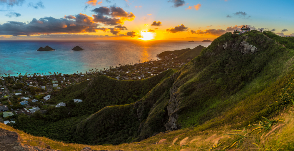 sunrise at Lanikai Pillboxes
