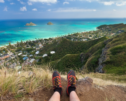 Hiking Lanikai Pillboxes on Oahu