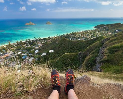 Hiking Lanikai Pillboxes on Oahu